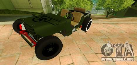 Jeep Willys Flatfender Loose Nuts para GTA San Andreas
