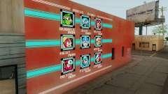 Mega Man Stage Select Wall para GTA San Andreas