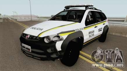 Fiat Palio Weekend Brazilian Police (White) para GTA San Andreas