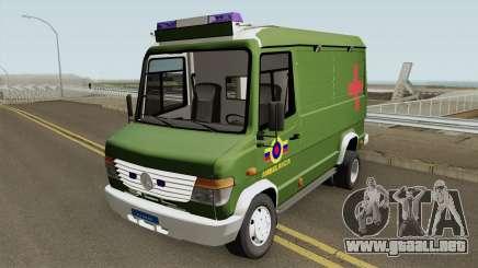 Mercedes-Benz Vario 512D Ambulancia Militar para GTA San Andreas