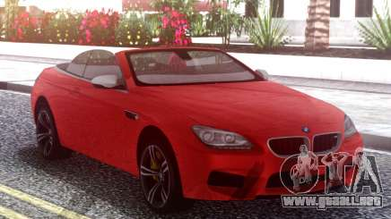 BMW M6 F12 Red para GTA San Andreas