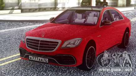 Mercedes-Benz S63 W222 2018 Red para GTA San Andreas