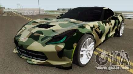 Chevrolet Corvette C7 (Army Style) para GTA San Andreas