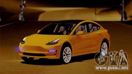 Tesla Model 3 para GTA San Andreas