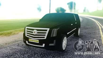 Cadillac Escalade Pure Black para GTA San Andreas