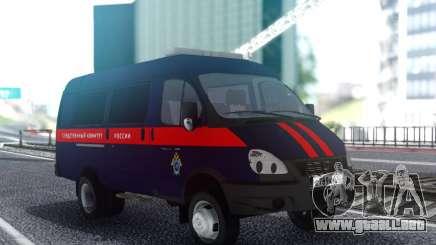 GAZelle 33023 Comité de Investigación de la Federación de rusia para GTA San Andreas