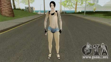 Rock Girl Skin para GTA San Andreas