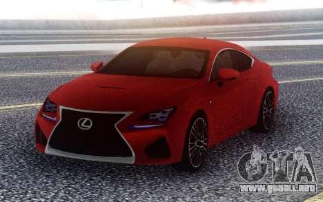 Lexus RC F para GTA San Andreas