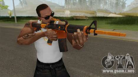 CS:GO M4A1 (Alloy Orange Skin) para GTA San Andreas