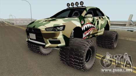 Mitsubishi Evolution X Off Road Camo Shark para GTA San Andreas