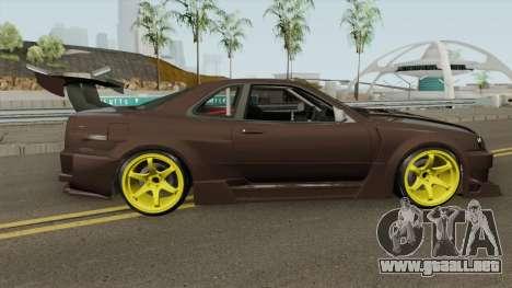 Nissan R34 Uras GT para GTA San Andreas