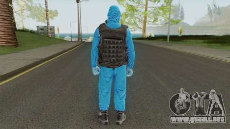 HazMat Skin Blue para GTA San Andreas