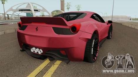 Ferrari 458 Liberty Walk para GTA San Andreas