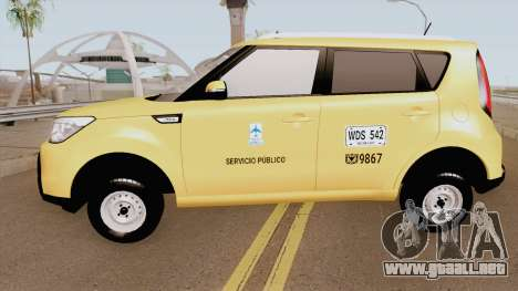 Kia Soul 2015 Taxi Colombiano para GTA San Andreas