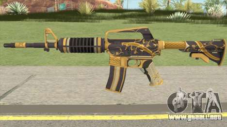 CS:GO M4A1 (Snakebite Gold Skin) para GTA San Andreas