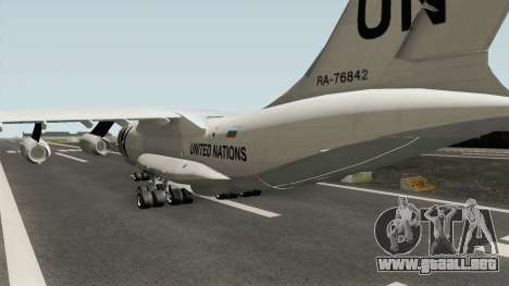 Ilyushin Il-76TD United Nations para GTA San Andreas