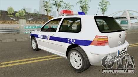 Volkswagen Golf IV Policija Republike Srpske para GTA San Andreas