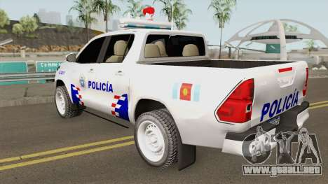Toyota Hilux Policia de Santiago del Estero para GTA San Andreas