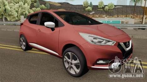 Nissan Micra 2019 para GTA San Andreas
