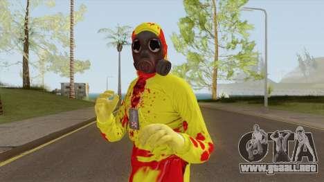 HazMat Skin Zombie para GTA San Andreas