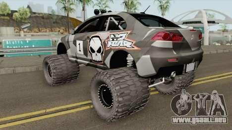 Mitsubishi Evolution X Off Road No Fear para GTA San Andreas