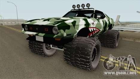 Ford Mustang Off Road Camo Shark 1971 para GTA San Andreas