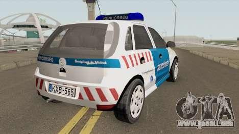 Opel Corsa Magyar Rendorseg para GTA San Andreas