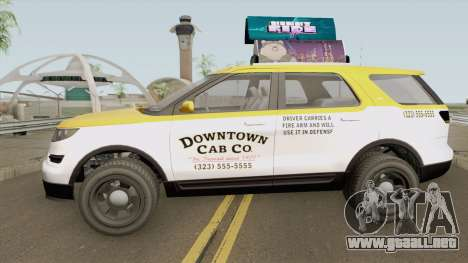 Vapid Scout Taxi GTA V IVF para GTA San Andreas