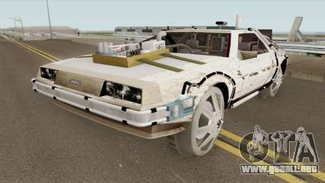 DeLorean DMC-12 Time Machine Cave para GTA San Andreas