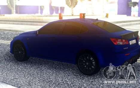 Lexus IS-F para GTA San Andreas