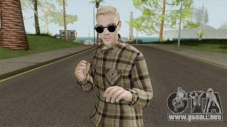 Justin Bieber Casual Outfit para GTA San Andreas