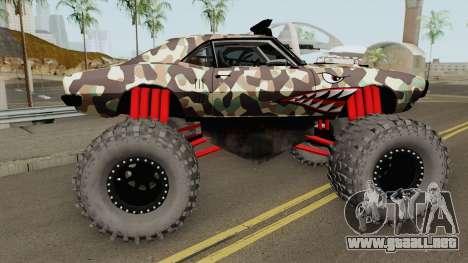 Pontiac Firebird Monster Truck Camo Shark 1968 para GTA San Andreas