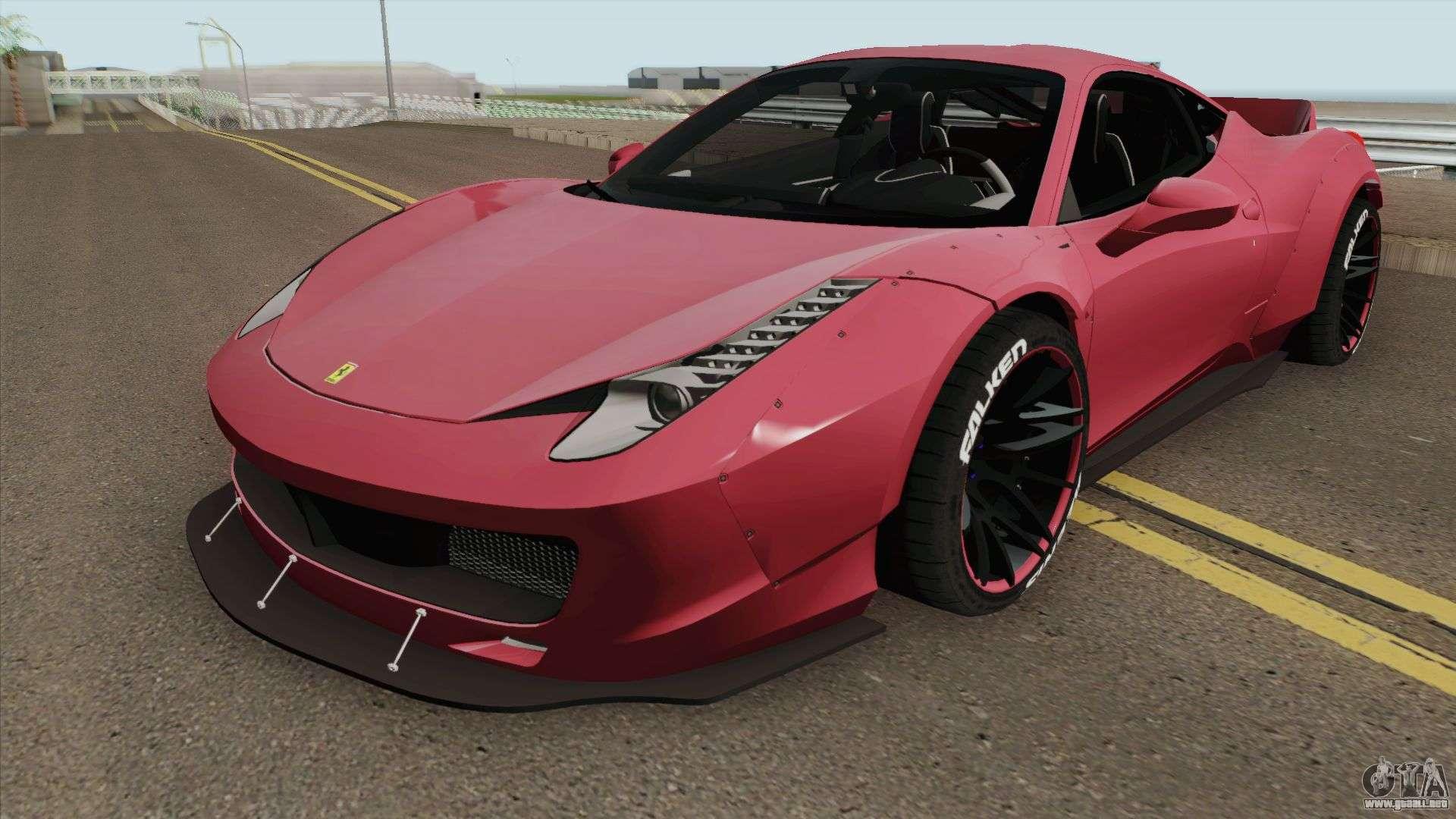 Ferrari 458 Liberty Walk Hq Para Gta San Andreas