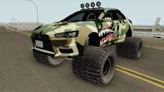 Mitsubishi Evolution X Off Road Camo Shark