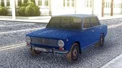 VAZ 2101 Sedán Azul para GTA San Andreas