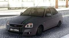 Lada Priora Grey Sedan para GTA San Andreas