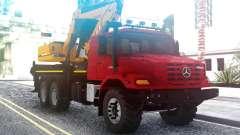 Mercedes-Benz Zetros Excavadora para GTA San Andreas