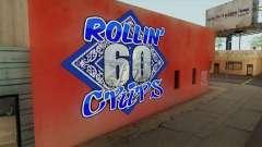 Rollin 60 Crips Mural para GTA San Andreas