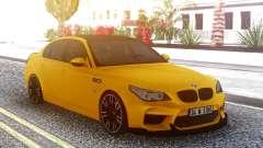 BMW M5 E60 Yellow para GTA San Andreas