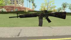 M16A2 Full Forest Camo (Ext Mag) para GTA San Andreas