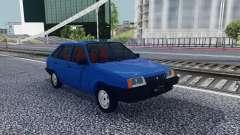 2109 Azul Hatchback para GTA San Andreas