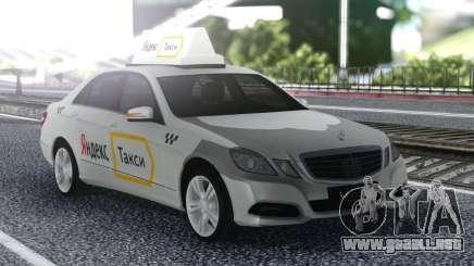 Mercedes-Benz E-Class Yandex Taxi para GTA San Andreas