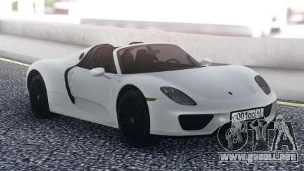 Porsche 918 Spyder White para GTA San Andreas