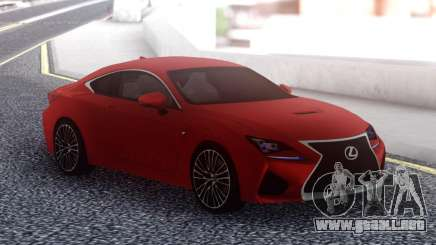 Lexus RC F Red para GTA San Andreas