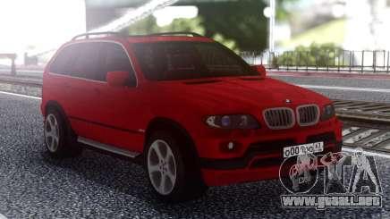 BMW X5 Red para GTA San Andreas