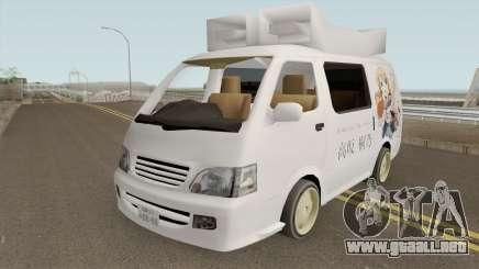 Toyota Hiace 2004 (Anime Gaisensha) para GTA San Andreas