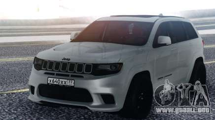 Jeep White Grand Cherokee para GTA San Andreas