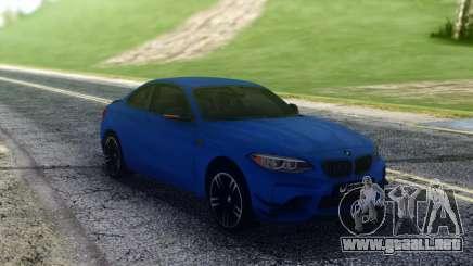 BMW M2 Blue Coupe para GTA San Andreas