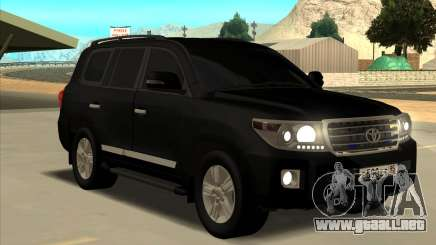 Toyota Land Cruiser 200 2013 Black para GTA San Andreas