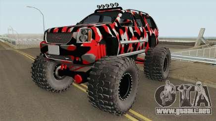 GMC Yukon Monster Truck Camo 2008 para GTA San Andreas